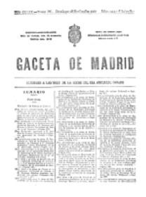 Portada de la Gaceta donde se publica el RD 23 11 1920