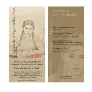 Cartel de la presentación de la exposición