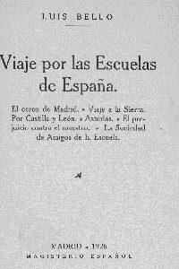 Portada del libro Viaje por las escuelas de España volumen 1