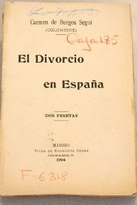 Portada del libro El divorcio en España