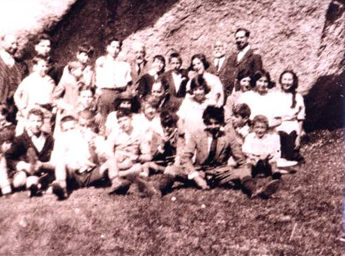 Imagen antigua del grupo excursionista