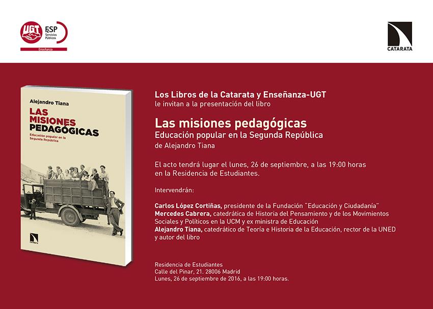Libro Las misiones pedagógicas
