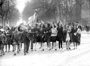 Imagen de un grupo de mujeres en una manifestación