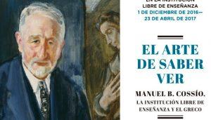 Cartel de la Exposición sobre Cossío en la ILE