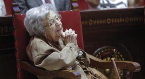 Imagen de la fallecida en un homenaje en Valencia