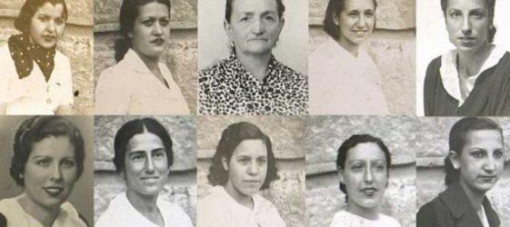 foto mosaico de algunas de las milicianas