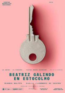 Cartel de la obra Beatriz Galindo en Estocolmo