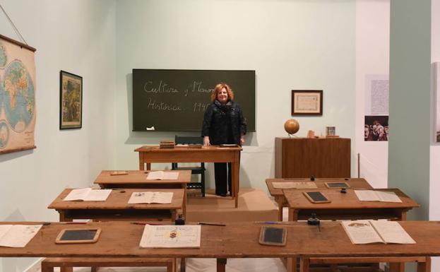 imagen de un aula antigua