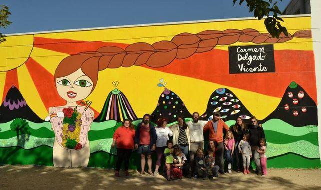 Imagen del mural en homenaje a Carmen Delgado