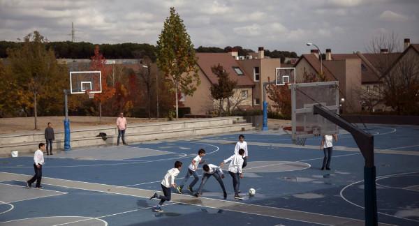 Imagen del patio del Colegio Estudio