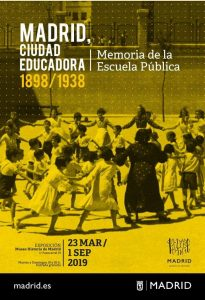 Cartel Exposición Memoria Escuela Pública