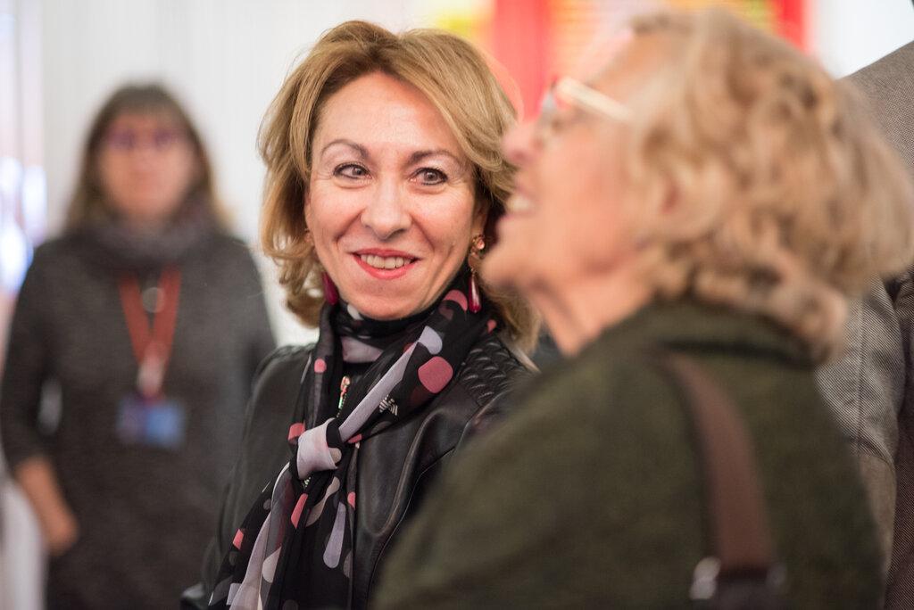 Imagen de la Comisaria Del Pozo y la alcaldesa Carmena