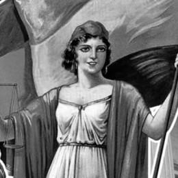 Imagen en blanco y negro del símbolo de la República