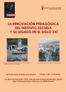 Cartel de la Exposición sobre el Instituto-Escuela