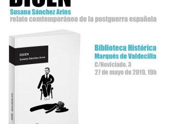 Cartel de la presentacion del libro DIcen