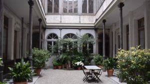 Patio del edificio de la Fundación Fernando de Castro