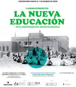 Cartel Exposición La nueva educación